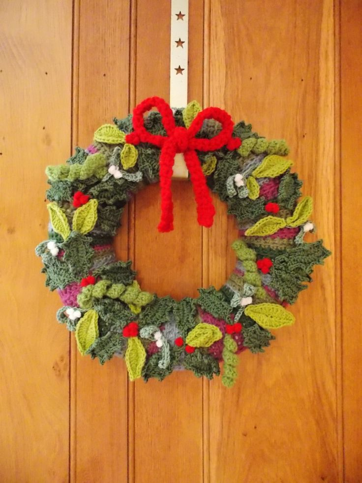 Crochet Christmas Wreath!