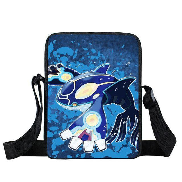 Anime Pokemon Pikacun Mini Messenger Bag Kyogre Pidgeotto Girls Boys School Bags Kids Book Bag Shoulder Bags For Snacks Lunch