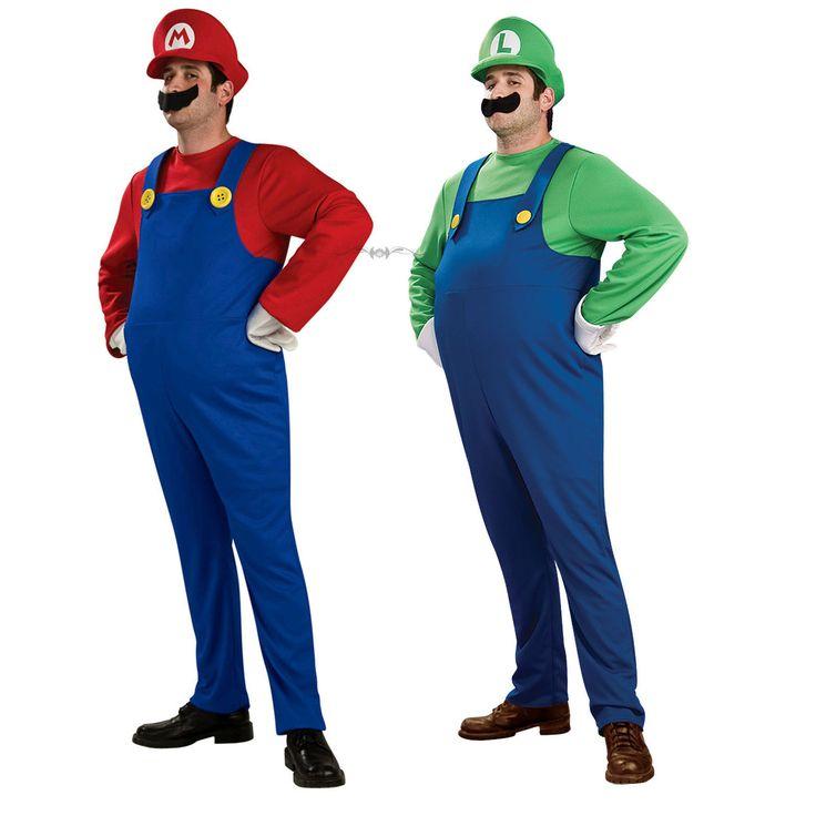 Disfraz de Mario Bros y Luigi Cosplay por sólo 18.99€