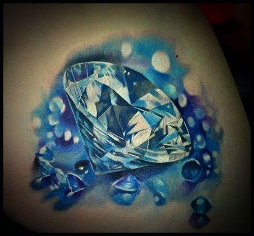 3d-small-and-big-diamond-tattoo