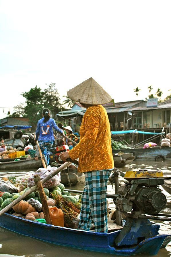 Mekong Delta in #Vietnam - der entspannte schwimmende Markt. Um 6 Uhr morgens. :)