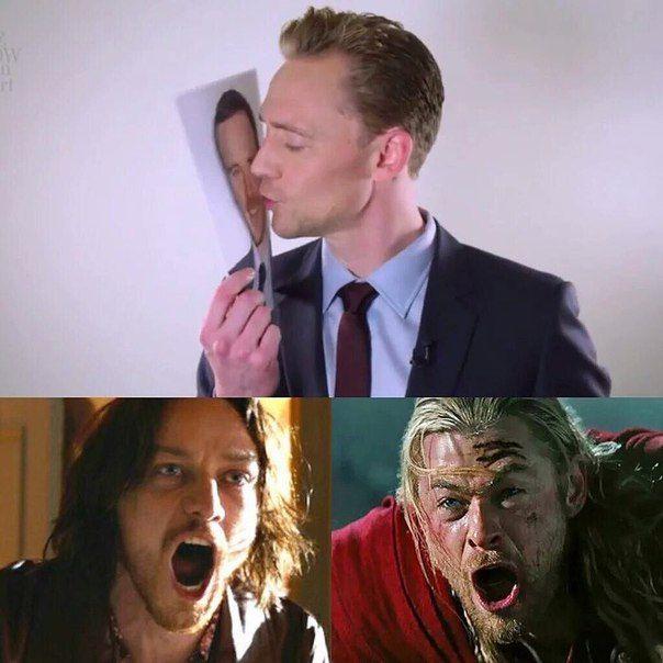 ^_^ broken hearts. THE new ship: Tom x Michael Fassbender --- Fassstone? Hiddlebender?