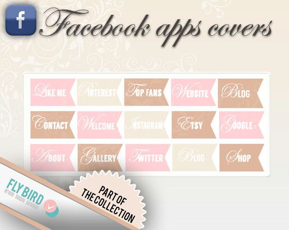 Facebook App Covers by FlyBirdBranding on Etsy, €3.00