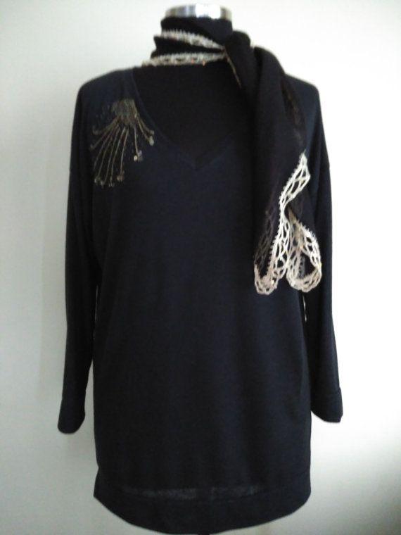 Grigio primavera estate tunica lunga tunica di HandmadebyNadya
