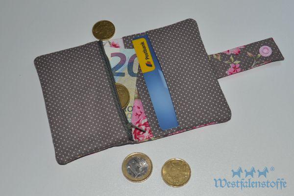 Tutorial: Mini-Geldbörse nähen