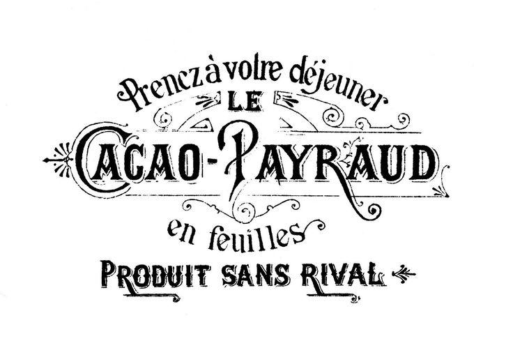 *The Graphics Fairy LLC*: Fabulous French Ephemera - Chocolate!Transfer, Printables, French Typography, French Chocolates, Cocoa, Graphics Fairy, Vintage French, Chocolates Labels, Graphics Fairies