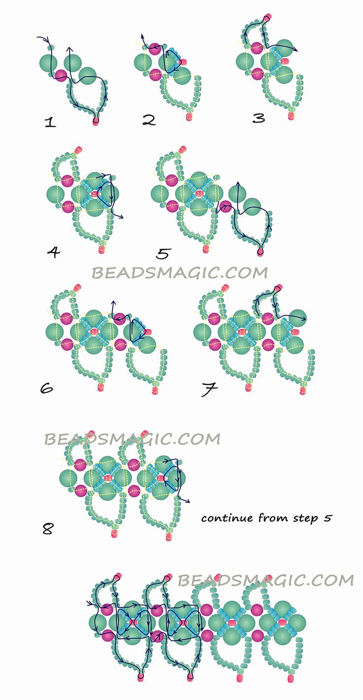 Free pattern for beautiful beaded necklace Altera   Beads Magic