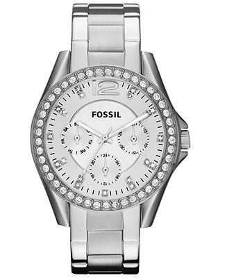 Fossil Watch, Women's Riley Stainless Steel Bracelet 38mm ES3202 - Watches - Jewelry & Watches - Macy's