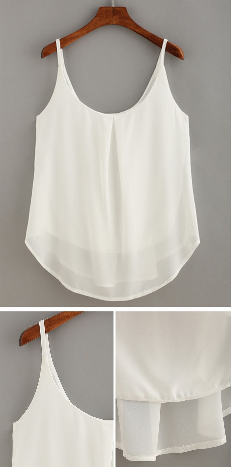 SUMMER STYLE - Layered Chiffon Cami Top from romwe.com