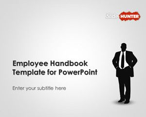 59 best business powerpoint templates images on pinterest free employee handbook template for powerpoint is a free microsoft powerpoint presentation template that you can toneelgroepblik Image collections