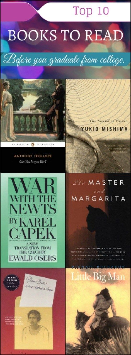 top ten books to read before you graduate from college