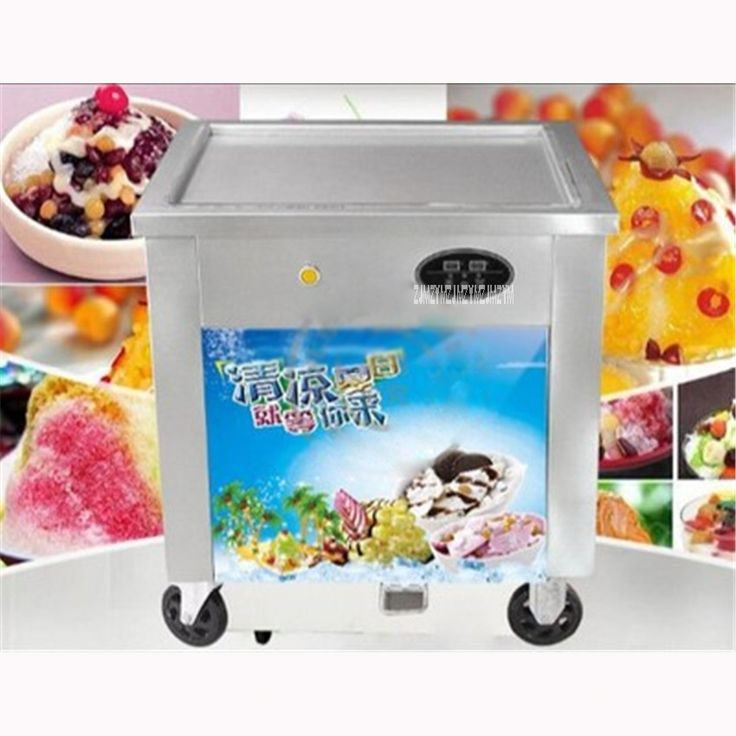 948.10$  Watch now - http://alig9q.shopchina.info/1/go.php?t=32814134401 - Shpping by sea HotSelling Commercial single Pan Stir Fried Ice Cream Maker/Snack Machine Cold Ice Cream Maker 220V/50Hz 12-15L/H  #shopstyle