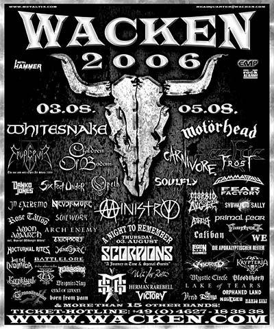 W.O.A WACKEN OPEN AIR (de) - Wacken (03-04-05/08/06) :: METAL IMPACT :: L ultime Webzine orienté Metal qui se renouvelle au quotidien