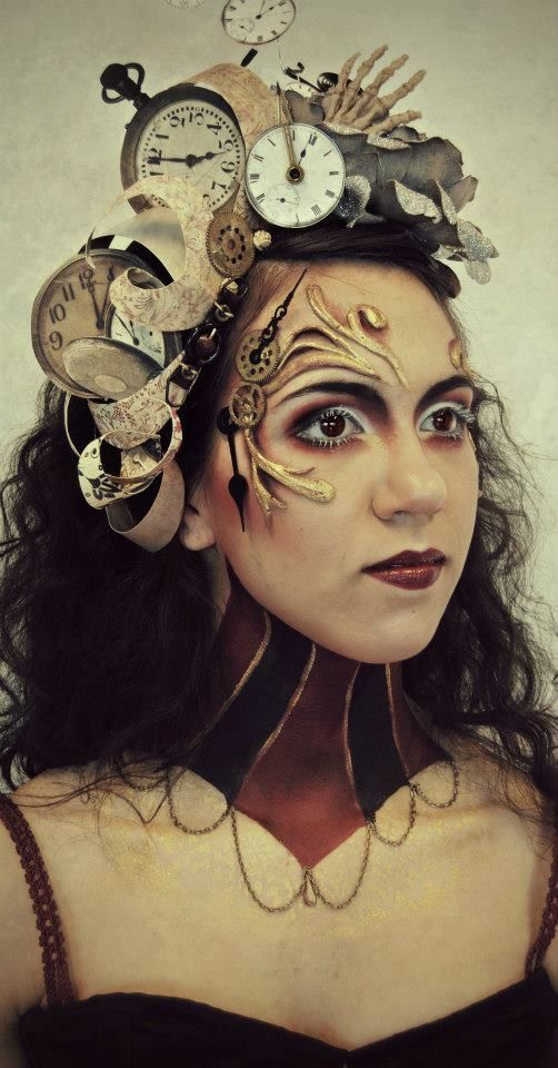 the art within this makeup is very artistic, creative and effective, i love the techniques used and works well the head piece
