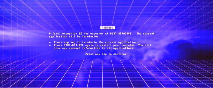 vaporwave Windows 95 error   Vaporwave   Pinterest ...