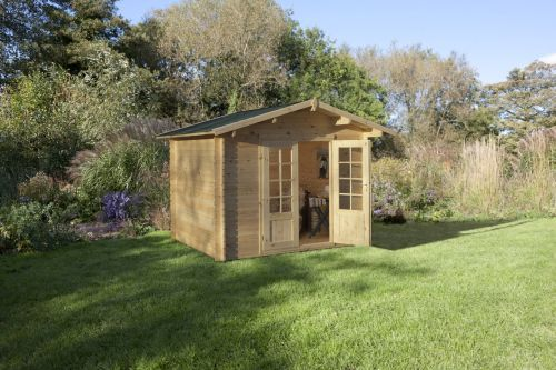 The Bradnor is a compact and contemporary cabin , the perfect solution where space may be limited in the garden. Leekes - http://www.leekes.co.uk/log-cabins/bradnor-log-cabin/invt/433233&bklist=icat,2,logcabins