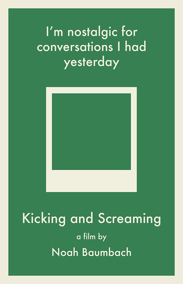 Minimalist Posters: Kicking and Screaming Edition by Kristen McKellogg, via Behance
