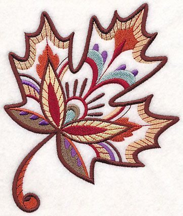 Fall with Flair - Maple design (M7514) from www.Emblibrary.com