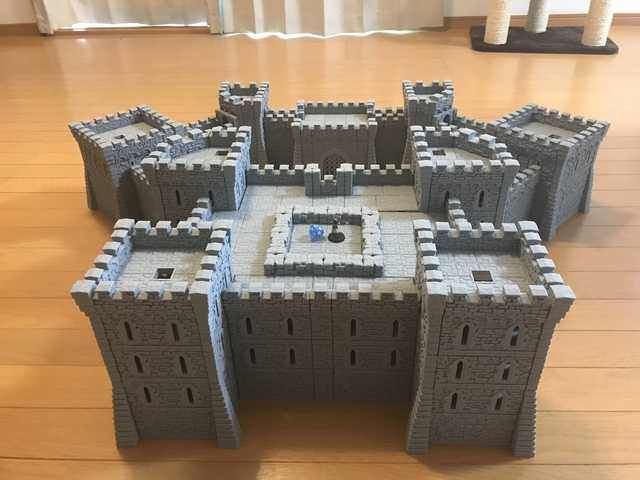 Printable Scenery Rampage Castle | game terrain | Game