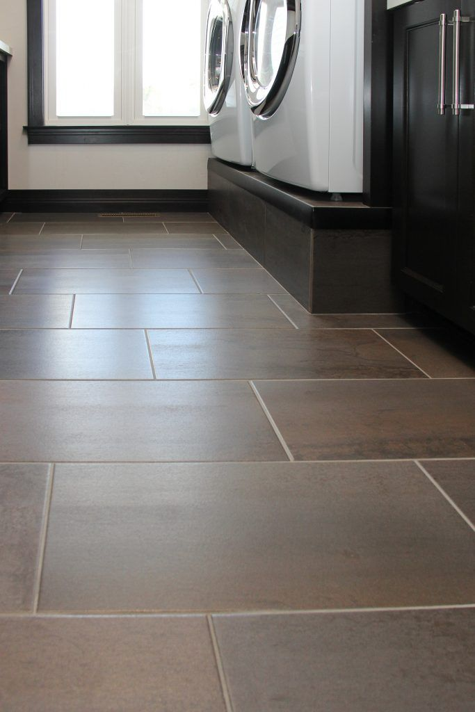 Dark Brown Tiled Laundry Room Floor Brown Tile Floor Kitchen Brown Tiles Brown Tile Floor