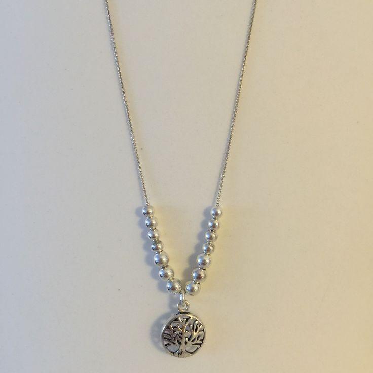 Hayat Ağaçlı gümüş toplardan oluşan kolye #gümüş #takı #silver #handmade