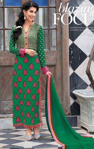 Picture of Angelic Green Traditional Indian Salwar Kameez
