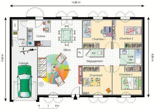 25 best maison images on Pinterest Future house, Cottage floor - simulation construction maison gratuit