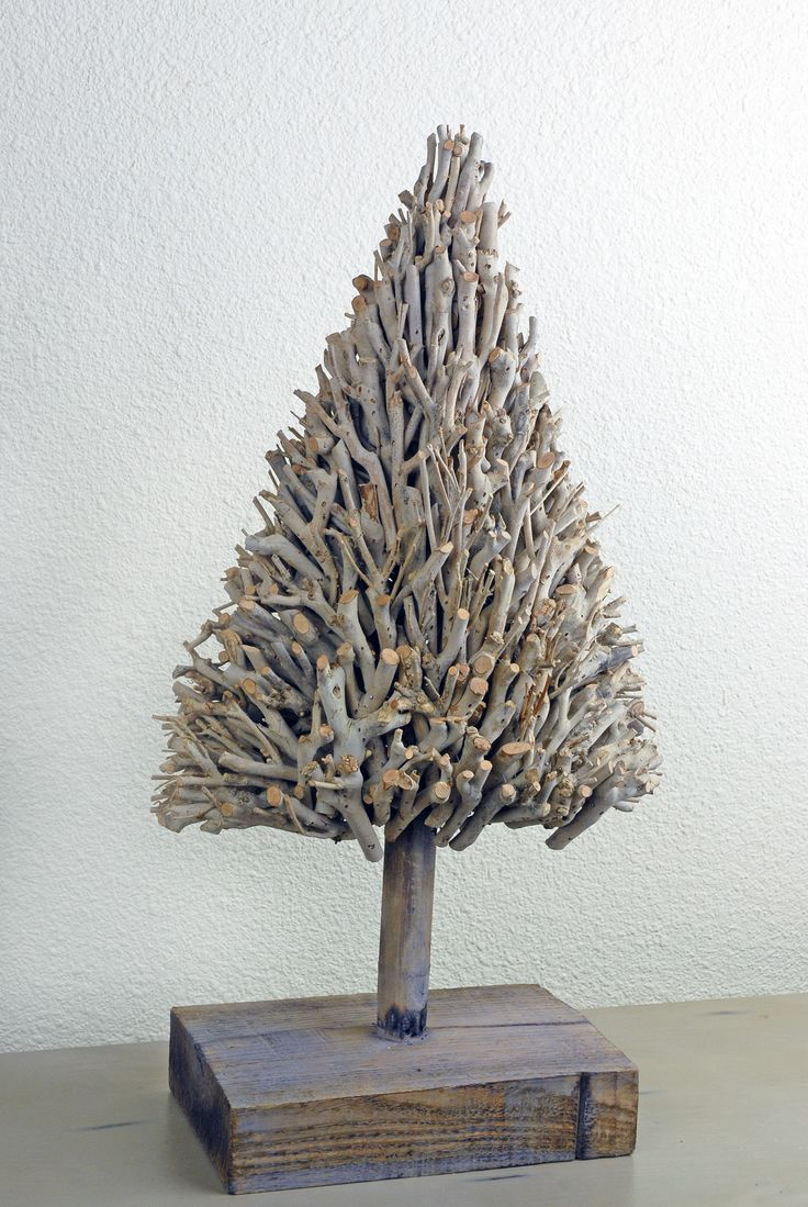 Very Pretty Christmas Tree From Small Twigs Of Driftwood.