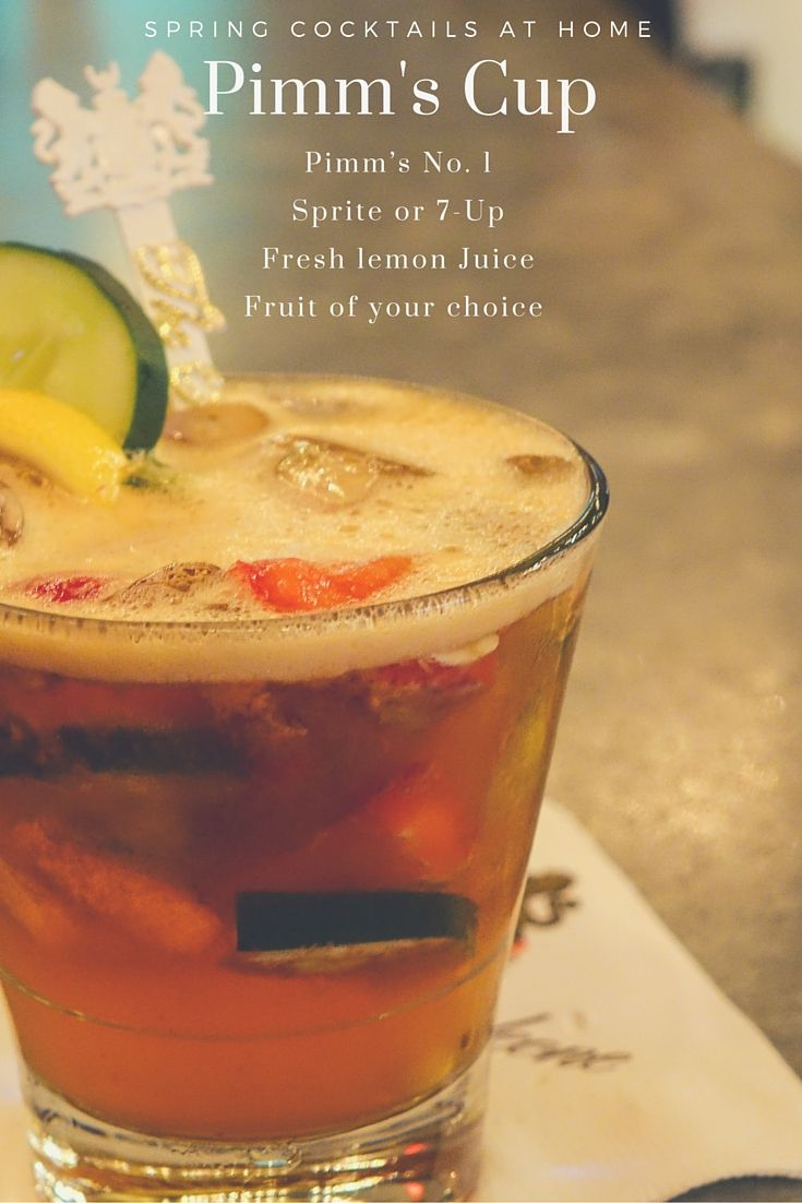 The Carousel Bar's Spring Cocktail Recipe: Pimm's Cup