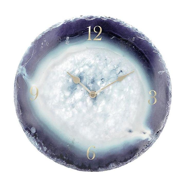 Мраморен стенен часовник / #декор #декорациянадома