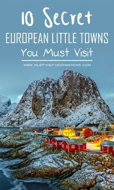 10 Secret European Little Towns You Must Visit #travel #europe  I would love visiting smaller towns because they're more intimate