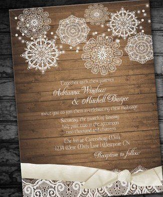 Rustic Wedding Invitation Printable ...we ♥ this! davidtuteraformoncheri.com