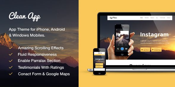 CleanApp – WP Responsive Theme for Building The Perfect App Site