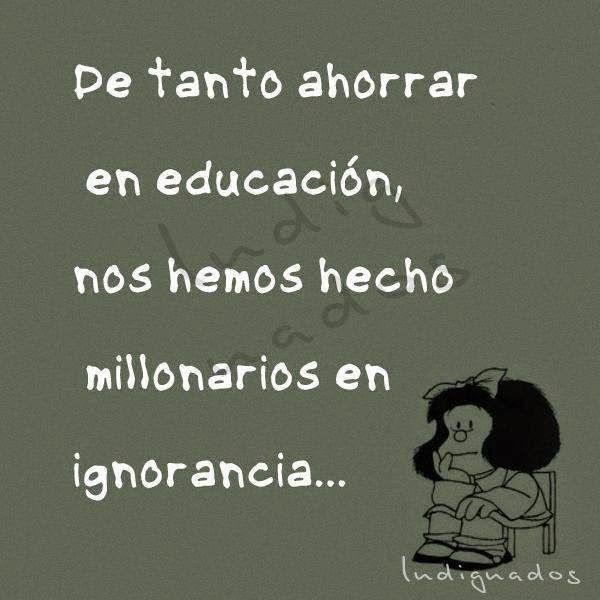Frases Bonitas Para Facebook: Reflexion Sobre La Educacion En Imagenes
