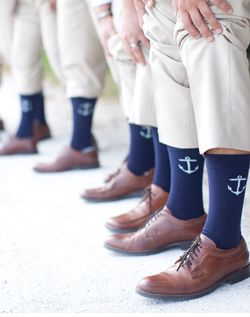 Love these nautical socks for the guys!