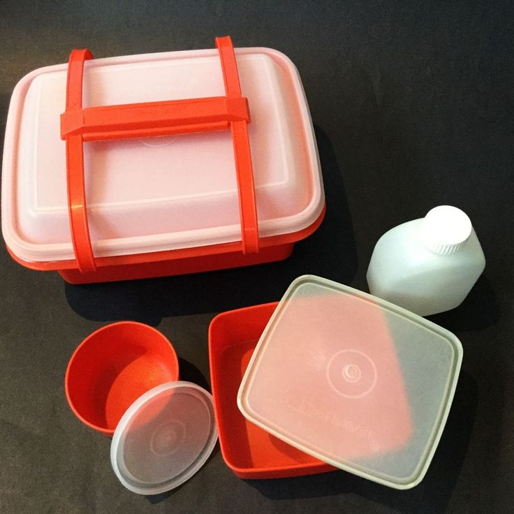 Vintage Tupperware Lunchbox Set Red With All Original Contents Retro Containers in Collectables, Homeware, Kitchenware, Tupperware | eBay!