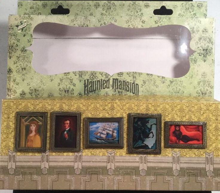 DISNEY BOX SET 5 HAUNTED MANSION BLACKLIGHT CHANGING PORTRAITS O'PIN HOUSE RARE