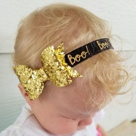 Baby halloween headband halloween hair bow halloween