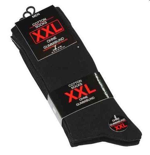 Herren Socken XXL Größe 47-50 im 3er Pack ohne Gummi Schwarz !