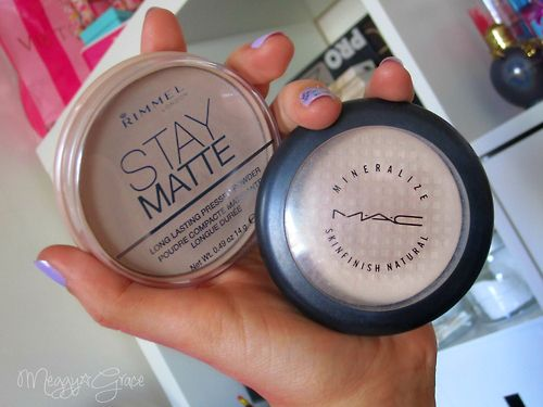 Rimmel Stay Matte pressed powder is a perfect dupe for Mac Mineralize Skinfinish Natural