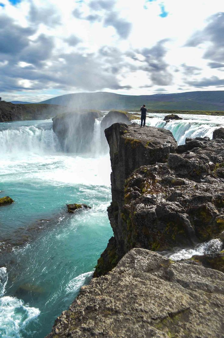 The Goðafoss waterfall in Iceland | heneedsfood.com