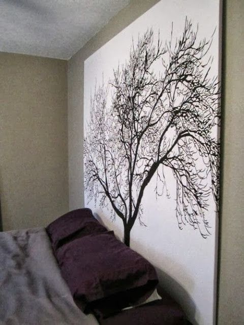use a shower curtain for wall art