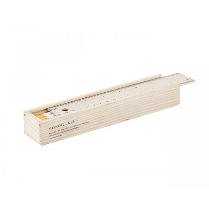 Pencils w Eraser in a Box - White