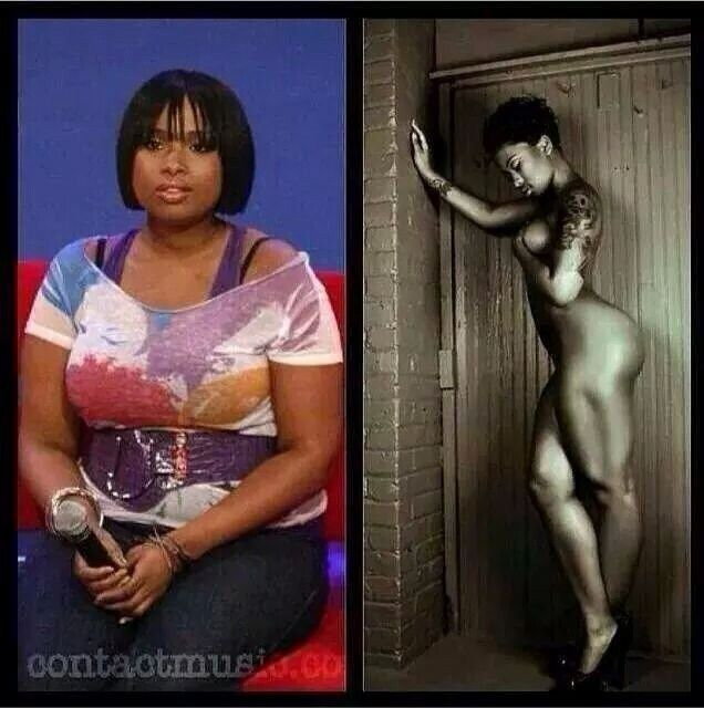 Jennifer Hudson before & after <-------- i had seen the after photo s million times but i didn't realize it was her
