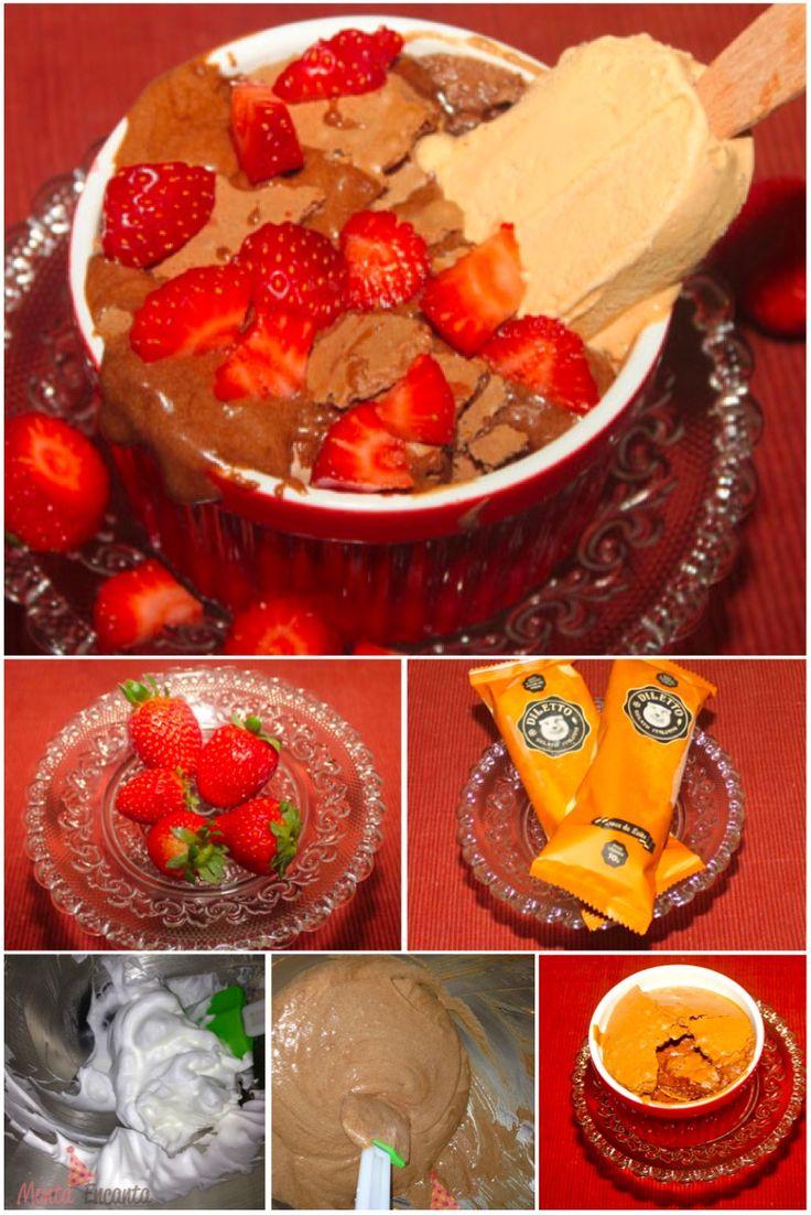 A receita de hoje é irresistível, Gran Gateau com sorvete Dileto… HUmmmmmm…. Acho que não precisa de mais explicações!!! Não é??? Inspirada no Gran Gateau do Paris 6, Bistrô super famos…