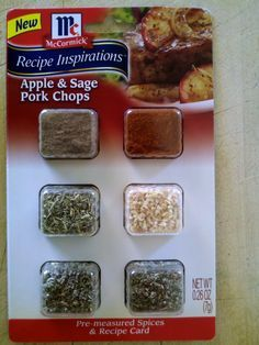 it's what's cookin: McCormick's Recipe Inspirations- Apple & Sage Pork Chops