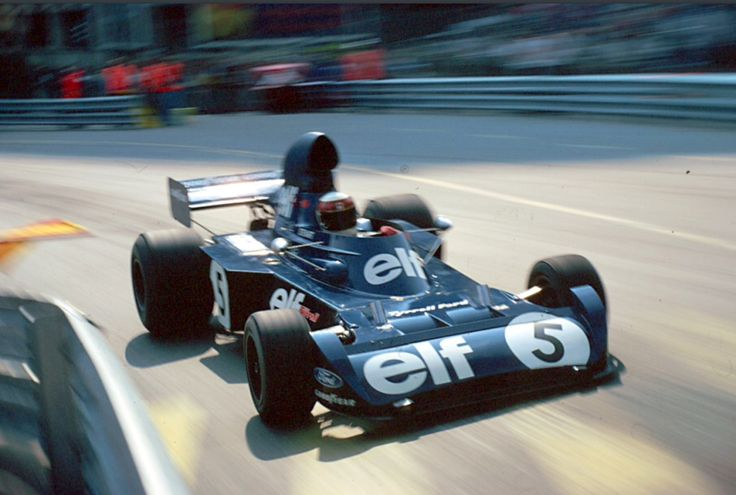 Fantastic shot of JYS on his way to victory throwing around the 'twitchy' , low 'polar moment of inertia' Tyrrell 006… The win was Stewarts 25th, equalling the number…