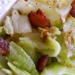 Fried Irish Cabbage with Bacon Allrecipes.com