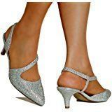 Rock on Styles NEW Ladies Gold Silver Party Prom Bridal Diamante Ankle Straps Low Mid Kitten Heel Court Shoes Sandals- 007 #silveranklestrapsheels