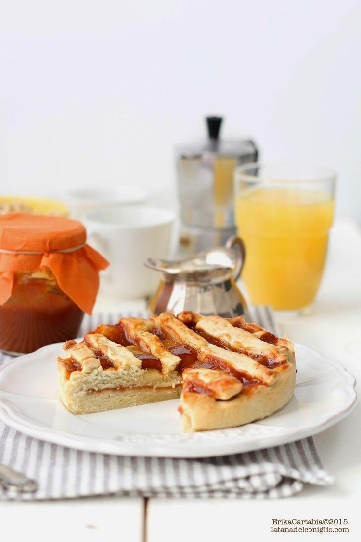 La tana del coniglio: Crostata vegana con frolla all'olio e confettura di corbezzolo